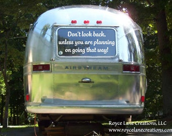 rv decal Don't Look Back travel quote / RV Window Decal / Travel Quote Decal / Travel Quote Wall Decal / Vinyl RV Decal /  rv stickers