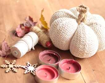 PUMPKIN PDF Knitting pattern Thanksgiving decoration Halloween decor FREE Written pattern and photo tutorial Autumn/fall harvest knit food