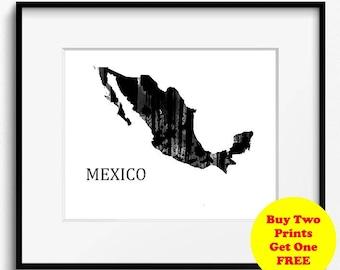 Mexico Black and White Watercolor Art Print (905)
