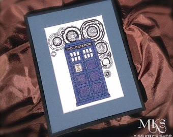 TARDIS - Doctor Who Cross Stitch Pattern - Instant Download