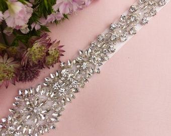 bridal sash belt, wedding sash belt, wedding sash,  rhinestone sash, jeweled sash belt, beaded belt, wedding dress, belt for dress