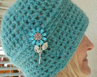 Women's winter hat, original handcrafted crochet hat, unique women's winter accessories, Bohemian accessories, creative hats, gift for her