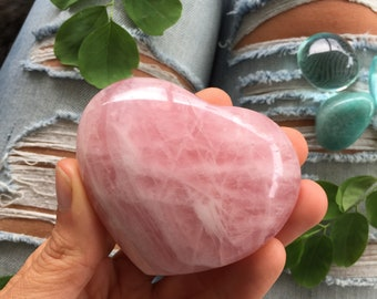 Rose quartz heart, quartz Heart, protection stone, healing stone, love stone