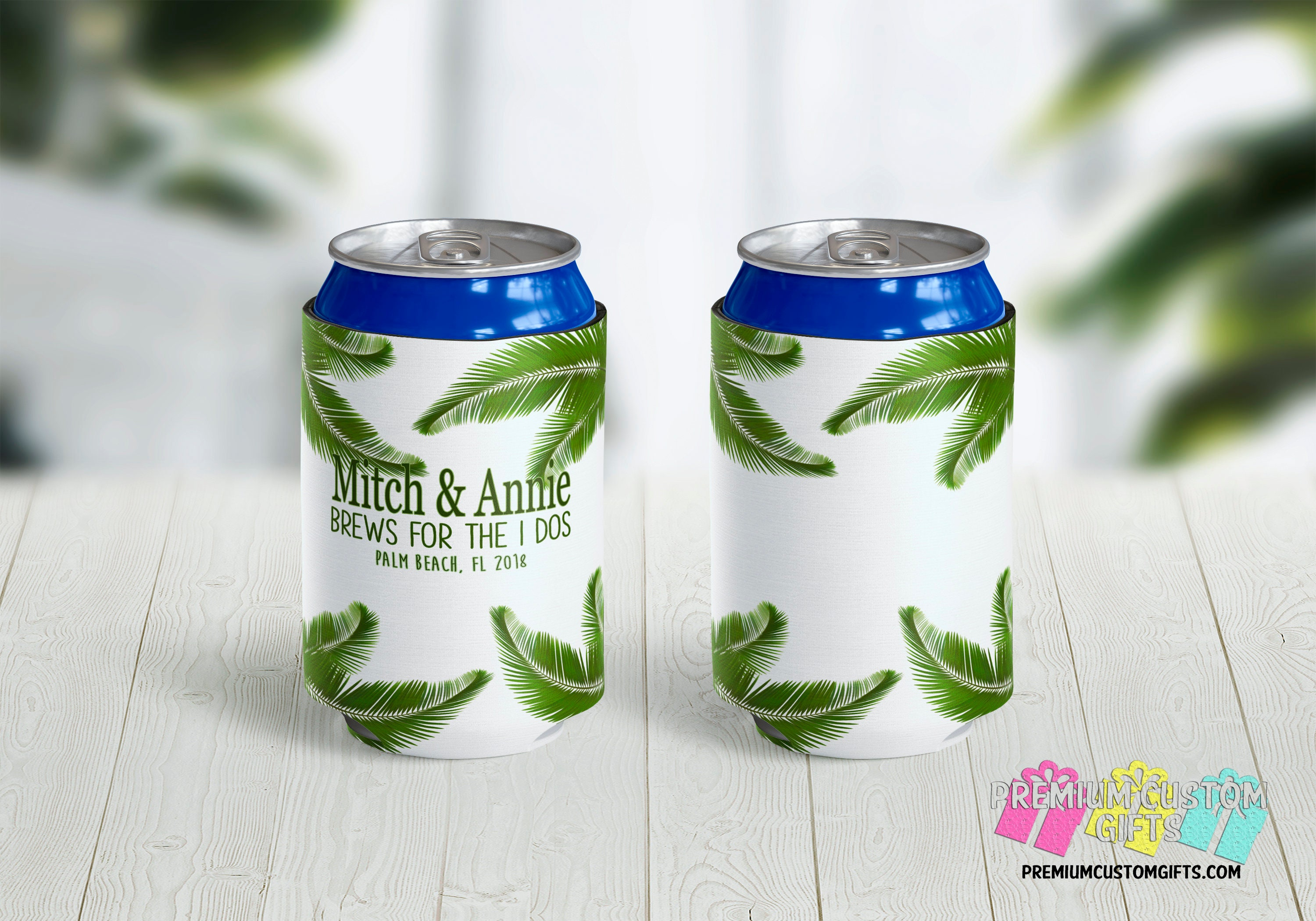 Brews for the I Dos Personalized Can Coolers - Wedding Favors ...