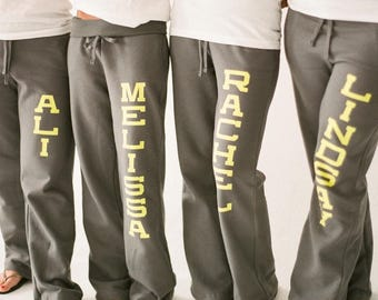RESERVED LISTING for blisco12 - Bridal Party Personalized Sweatpants