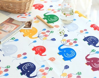 Laminated Cotton Fabric Cute Elephant By The Yard
