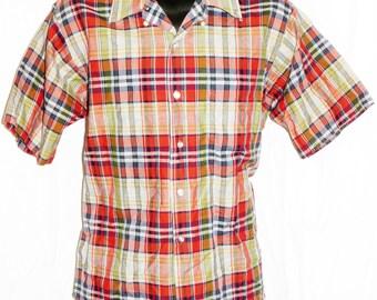 1960s Mens Cruiser Shirt Sz L Vintage Retro