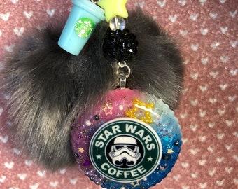S.W. Coffee Pom Keychain