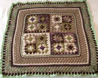 Forever Green Baby Pram Crochet Blanket