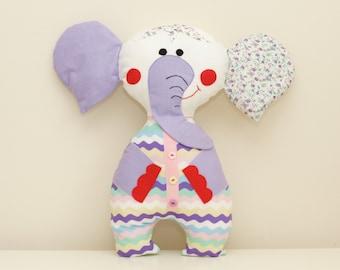Elephant Sewing Pattern PDF Instant Download Plush Stuffed Toy Tutorial. Fabric elephant pattern. Elephant PDF