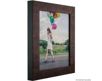 "Craig Frames, 16x22 Inch Walnut Veneer Solid Wood Picture Frame, Winston 1.375"" Wide (104561622)"