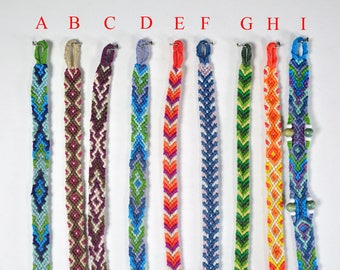 Friendship bracelets, friendship bracelets, embroidery thread macramé bracelet.