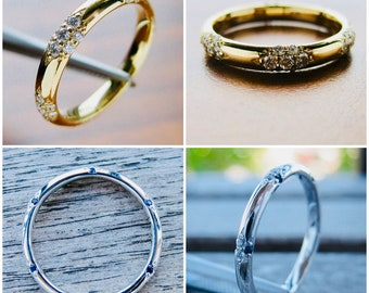 Order Your Cluster Ring in Silver Palladium Gold or Platinum with Gems of Your Choice - For Deposit Only