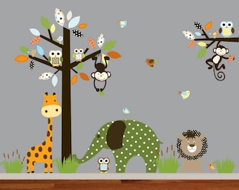 Wall Decals Nursery - Baby Wall Decals, Nursery Wall Decal, Wall Decals Animals