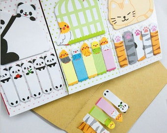 Kawaii Cat Pawn / Panda  Figure Sticky Notes