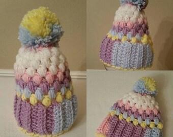 Unisex Newborn Hat, Crochet hat, winter baby hat, baby boy hat, baby girl hat