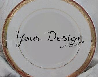 Customizable Plates Custom Dinnerware Customizable Dishes Personalized Plates Personalized Dishes Bespoke & Customizable Plates Gold Dinnerware Customizable Dishes