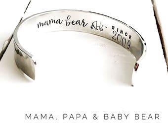 Mama Bear | Papa Bear | Baby Bear | Mama Bear Jewelry | Mama Bear Bracelet | Baby Bear Bracelet | Gift ideas for Mama, Papa, Baby Bear