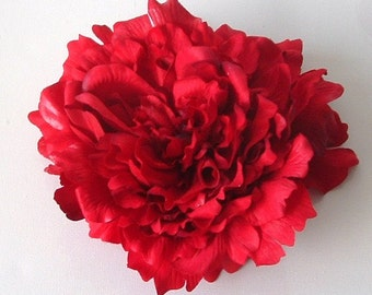 Giant Peony - Red - Millinery supplies, trimming, hats, fascinators, weddings, races, hair accessories