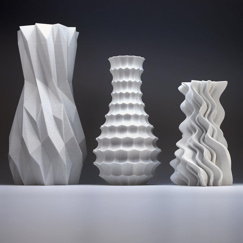Modern home decor bud vase set geometric vase art vases description enjoy a stimulating combination of geometric vases made with 3d printing reviewsmspy
