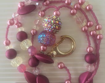 Rose Handmade Beaded Lanyard