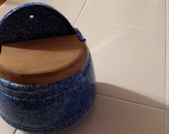 FREE U.S. SHIPPING-- Blue Salt Box