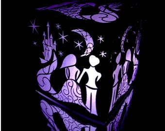 Fairytale Wedding Laser Cut Paper Lantern Luminary Centerpiece