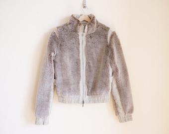 Vintage 1970s Jacket / Vintage Faux Fur Jacket