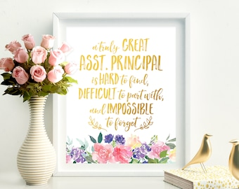 Een echt grote assistent-Principal Is Hard To Find assistent Gift waardering Gift Christmas Gift Birthday Gift assistent dank u Print