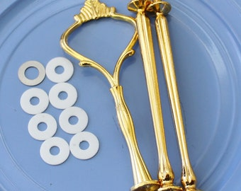 Regular Gold Crown Cake stand handle / hardware 3 tier  for DIY cake plate / stand dessert serving tray