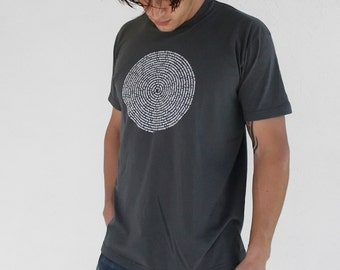 Mens Tshirt / Asphalt Gray Collective Animal Nouns