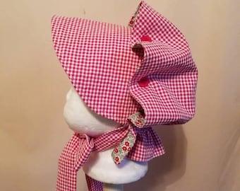 Baby Girls Button Bonnet, 0 to 6 Months