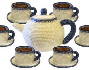 Tea Party Set - PDF Crochet Pattern - Instant Download