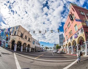 Venice Sign, Windward Avenue, Venice Beach California, Digital Download,Fine Art Photography