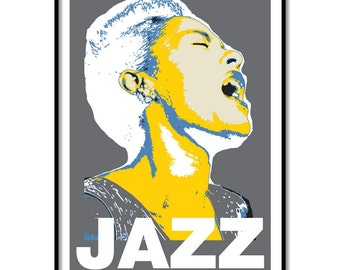 Billie Holiday poster, Music art, Music poster art, Limited Edition music poster