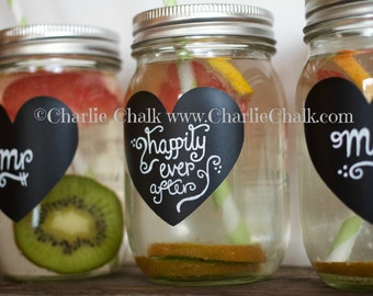 DIY Wedding Favors, Chalkboard Labels for Mason Jars, 100 Chalkboard Label Stickers,Wedding Chalkboard,Mason Jar Labels,Wedding Shower Label