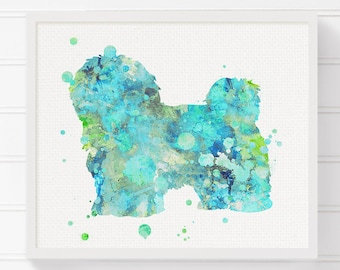 Havanese Dog, Havanese Art, Havanese Print, Watercolor Havanese, Dog painting, Watercolor Dog, Dog Art Print, Dog Wall Art, Dog Lover Gift