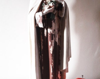 "Large Antique Chalk Ware Saint Therese of Lisieux - 16"" Tall - Unrestored"