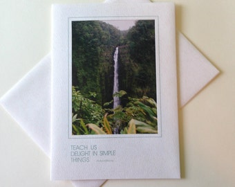 Freefall Photo Note Card Blank Inside Inspirational Quote