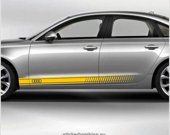 """Audi A6  lower panel door stripes vinyl graphics and decals kits - """"Audi Stripes"""""""
