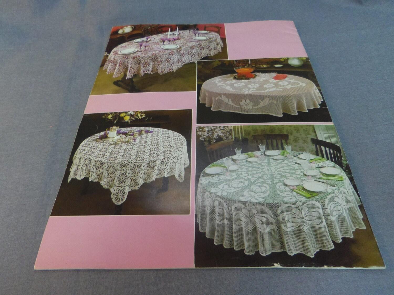 Crochet patrones, manteles para mesas redondas y ovaladas, Gail ...