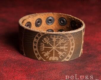 Celtic Leather Bracelet , Viking Bracelet , Men's Leather Wristband , Leather Bracelet , Nordic Leather Bracelet Cuff , Men's Cuff Bracelet