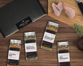 Chicken Rub Chicken Seasonings Gift Set for Him – 4 Rub Set
