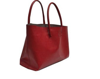 Big leather shopping bag cool carry bag Einkaufsshopper XXL Shopper XXL Leather Shopper bag Handmade