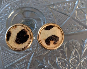 Bergere Signed Fur Clip On Earrings