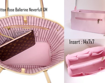 Rose  Ballerine -Purse insert to match rose ballerine lining Louis Vuitton Neverfull GM - Bag organizer insert