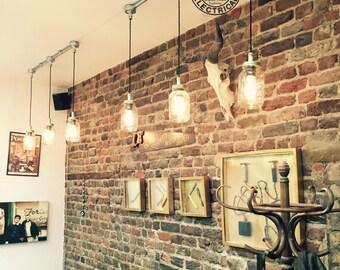 Le 3 Kenninghall x Kilner suspension mason jar s'allume au plafond salle à manger Bureau cuisine table vintage pendentif de lampes à incandescence edison