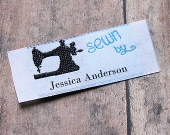 Vintage Sewing Machine Labels, Custom Labels, Woven Labels, Personalized Labels for Crafts, Fabric Labels, Sewing Labels