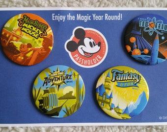 Disneyland Button Pack