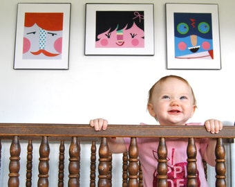 Nursery Wall Art ---  Three Prints for the Price of Two --- Modern Nursery